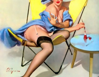 Almes Avançados - Gil Elvgren - Pin-up: Pintando as Unhas