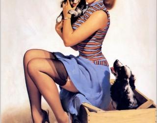 Almes Avançados - Gil Elvgren - Pin-up: Com seus Cães