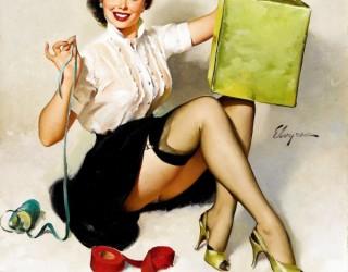 Almes Avançados - Gil Elvgren - Pin-up: Embalando a Caixa de Presente