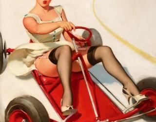 Almes Avançados - Gil Elvgren - Pin-up: Dirigindo Cart