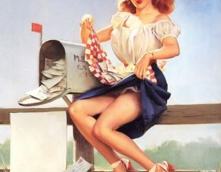 Almes Avançados - Gil Elvgren - Pin-up: Pegando as Cartas