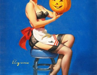 Almes Avançados - Gil Elvgren - Pin-up: No Halloween