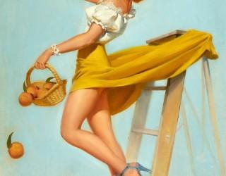 Almes Avançados - Gil Elvgren - Pin-up: Pegando Laranjas