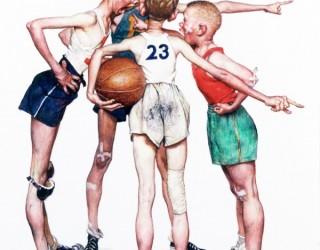Almes Avançados - Norman Rockwell: Meninos no Basket