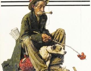 Almes Avançados - Norman Rockwell: Mendigo e Cachorro