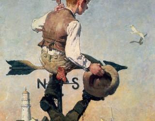 Almes Avançados - Norman Rockwell: Jovem no Telhado