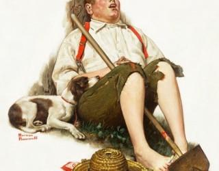 Almes Avançados - Norman Rockwell: Rapaz Descansando