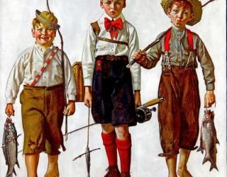 Almes Avançados - Norman Rockwell: Meninos Retornando da Pesca