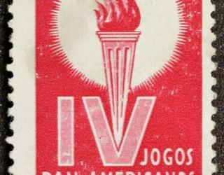 Almes Avançados - Selo Postal:  IV Jogos Pan Americanos   São Paulo 1963