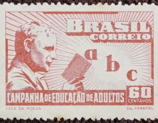 Almes Avançados - Selo Postal: Campanha de Educação de Adultos   1949