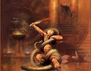 Almes Avançados - Frank Frazetta - Guerreiro e a Serpente 1967