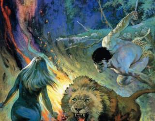 Almes Avançados - Frank Frazetta - Tarzan e o Leão