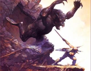 Almes Avançados - Frank Frazetta - Criatura da Caverna 1978